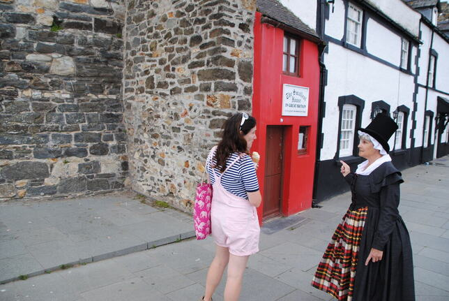 Final historic costume at smallest house in Conwy